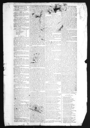 Primary view of object titled 'The Huntsville Item. (Huntsville, Tex.), Vol. 14, No. 39, Ed. 1 Friday, November 18, 1864'.