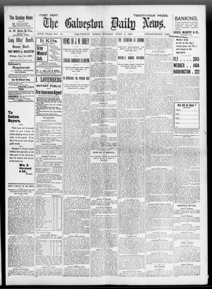 Primary view of object titled 'The Galveston Daily News. (Galveston, Tex.), Vol. 56, No. 74, Ed. 1 Sunday, June 6, 1897'.