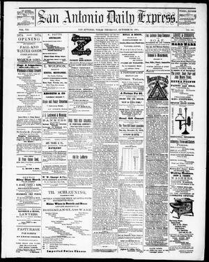 Primary view of San Antonio Daily Express. (San Antonio, Tex.), Vol. 8, No. 167, Ed. 1 Thursday, October 29, 1874
