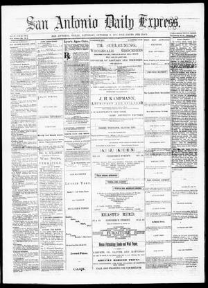 Primary view of object titled 'San Antonio Daily Express. (San Antonio, Tex.), Vol. 9, No. 220, Ed. 1 Saturday, October 9, 1875'.