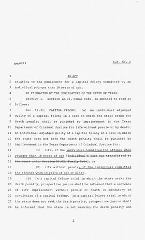 Primary view of object titled '83rd Texas Legislature, Second Called Session, Senate Bill 2'.