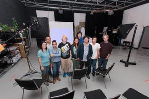 Primary view of object titled '[Hatch Visuals staff pose for photograph]'.