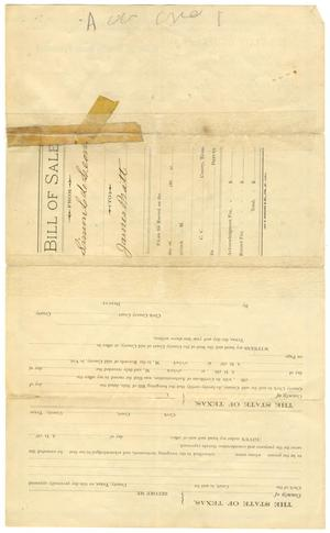 bill of sale for mule january 1891 the portal to texas history