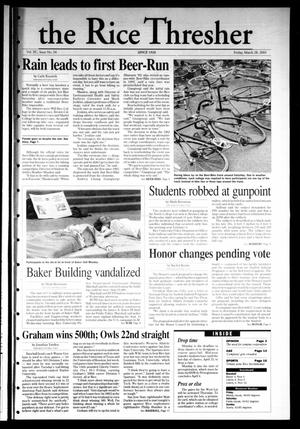 The Rice Thresher, Vol. 90, No. 24, Ed. 1 Friday, March 28, 2003