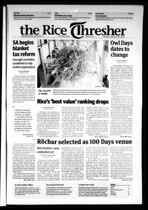 Primary view of object titled 'The Rice Thresher, Vol. 97, No. 17, Ed. 1 Friday, January 29, 2010'.