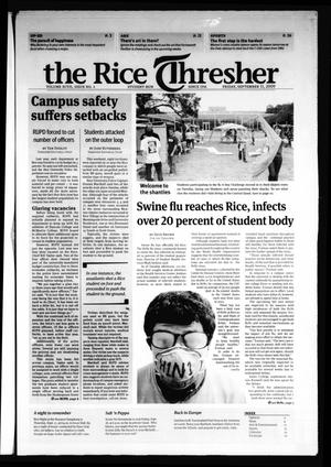 Primary view of object titled 'The Rice Thresher, Vol. 97, No. 4, Ed. 1 Friday, September 11, 2009'.