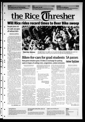 Primary view of object titled 'The Rice Thresher, Vol. 96, No. 24, Ed. 1 Friday, March 27, 2009'.