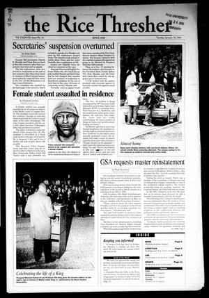 The Rice Thresher, Vol. 88, No. 16, Ed. 1 Tuesday, January 16, 2001