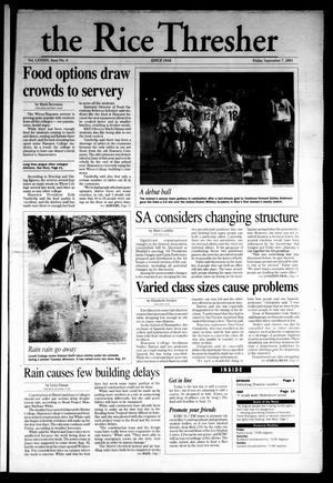 The Rice Thresher, Vol. 89, No. 4, Ed. 1 Friday, September 7, 2001