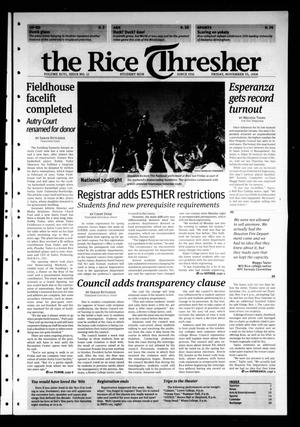 Primary view of object titled 'The Rice Thresher, Vol. 96, No. 12, Ed. 1 Friday, November 14, 2008'.