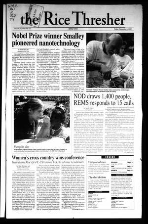 The Rice Thresher, Vol. 93, No. 11, Ed. 1 Friday, November 4, 2005