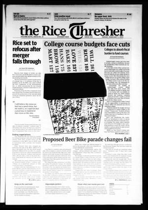 Primary view of object titled 'The Rice Thresher, Vol. 97, No. 18, Ed. 1 Friday, February 5, 2010'.