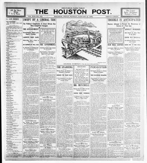 Primary view of object titled 'The Houston Post. (Houston, Tex.), Vol. 21, No. 312, Ed. 1 Sunday, January 21, 1906'.