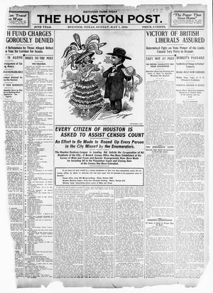 Primary view of object titled 'The Houston Post. (Houston, Tex.), Vol. 26TH YEAR, Ed. 1 Sunday, May 1, 1910'.