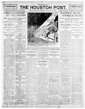 Primary view of object titled 'The Houston Post. (Houston, Tex.), Vol. 25TH YEAR, Ed. 1 Tuesday, January 25, 1910'.