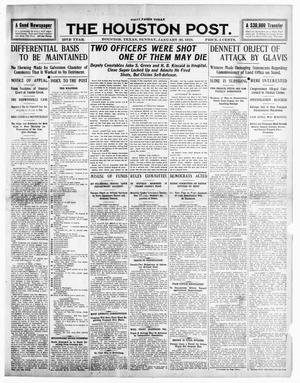 Primary view of object titled 'The Houston Post. (Houston, Tex.), Vol. 25TH YEAR, Ed. 1 Sunday, January 30, 1910'.