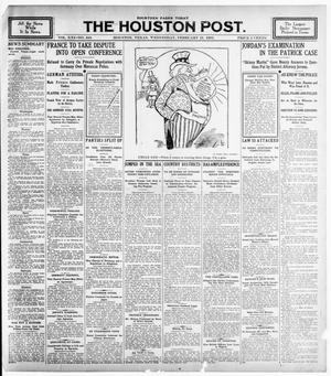 Primary view of object titled 'The Houston Post. (Houston, Tex.), Vol. 21, No. 343, Ed. 1 Wednesday, February 21, 1906'.