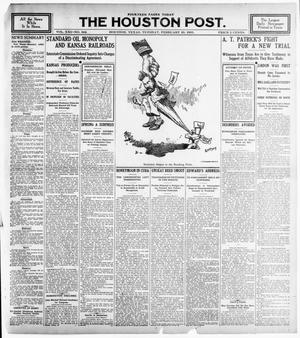 Primary view of object titled 'The Houston Post. (Houston, Tex.), Vol. 21, No. 342, Ed. 1 Tuesday, February 20, 1906'.