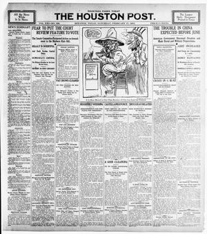 Primary view of object titled 'The Houston Post. (Houston, Tex.), Vol. 21, No. 339, Ed. 1 Saturday, February 17, 1906'.