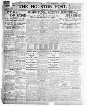 Primary view of object titled 'The Houston Post. (Houston, Tex.), Vol. 21, No. 108, Ed. 1 Saturday, July 1, 1905'.