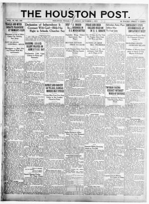 Primary view of object titled 'The Houston Post. (Houston, Tex.), Vol. 37, No. 180, Ed. 1 Saturday, October 1, 1921'.