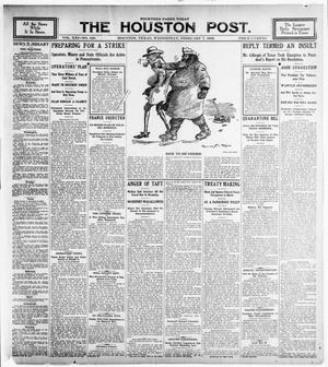 Primary view of object titled 'The Houston Post. (Houston, Tex.), Vol. 21, No. 329, Ed. 1 Wednesday, February 7, 1906'.