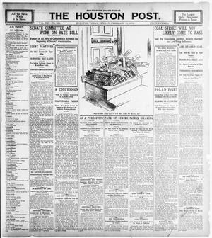 Primary view of object titled 'The Houston Post. (Houston, Tex.), Vol. 21, No. 333, Ed. 1 Sunday, February 11, 1906'.