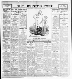 Primary view of object titled 'The Houston Post. (Houston, Tex.), Vol. 21, No. 306, Ed. 1 Monday, January 15, 1906'.