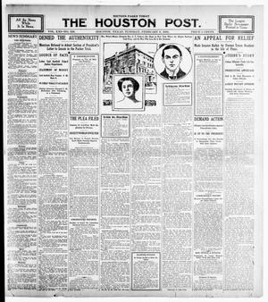 Primary view of object titled 'The Houston Post. (Houston, Tex.), Vol. 21, No. 328, Ed. 1 Tuesday, February 6, 1906'.