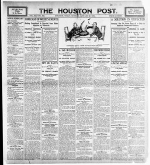 Primary view of object titled 'The Houston Post. (Houston, Tex.), Vol. 21, No. 320, Ed. 1 Monday, January 29, 1906'.