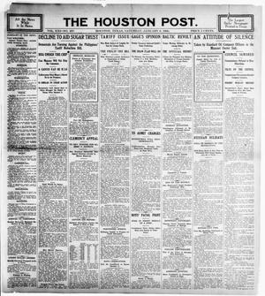 Primary view of object titled 'The Houston Post. (Houston, Tex.), Vol. 21, No. 297, Ed. 1 Saturday, January 6, 1906'.