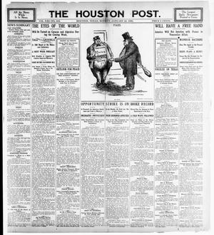 Primary view of object titled 'The Houston Post. (Houston, Tex.), Vol. 21, No. 313, Ed. 1 Monday, January 22, 1906'.