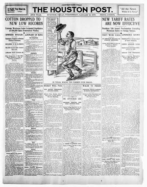 Primary view of object titled 'The Houston Post. (Houston, Tex.), Vol. 25TH YEAR, Ed. 1 Wednesday, January 19, 1910'.