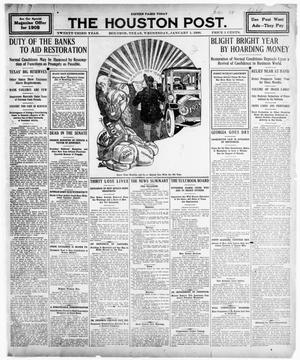 Primary view of object titled 'The Houston Post. (Houston, Tex.), Vol. TWENTY-THIRD YEAR, No. 6, Ed. 1 Wednesday, January 1, 1908'.