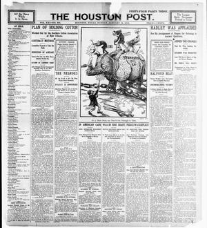 Primary view of object titled 'The Houston Post. (Houston, Tex.), Vol. 21, No. 305, Ed. 1 Sunday, January 14, 1906'.