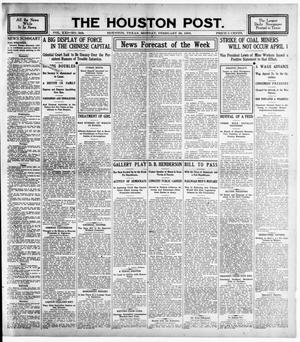 Primary view of object titled 'The Houston Post. (Houston, Tex.), Vol. 21, No. 348, Ed. 1 Monday, February 26, 1906'.