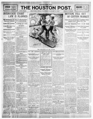 Primary view of object titled 'The Houston Post. (Houston, Tex.), Vol. 25TH YEAR, Ed. 1 Tuesday, January 11, 1910'.