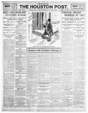 Primary view of object titled 'The Houston Post. (Houston, Tex.), Vol. 25TH YEAR, Ed. 1 Saturday, January 8, 1910'.