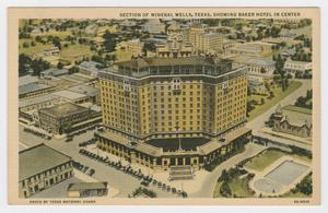 Primary view of object titled '[Postcard of the Baker Hotel]'.
