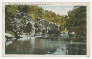 Primary view of object titled '[Postcard of the Grottoes on Lovers' Retreat]'.