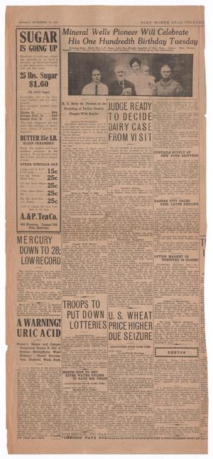 Primary view of object titled '[Fort Worth Star Telegram Clipping]'.