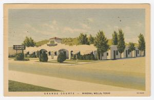 Primary view of object titled '[Postcard of Grande Courts]'.