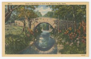 Primary view of object titled '[Postcard of Bridle Path Bridge]'.