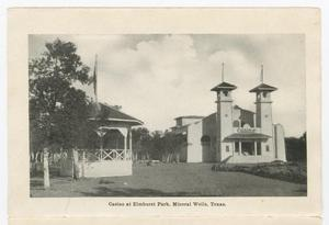 Primary view of object titled '[Folding Postcard of Mineral Wells Landmarks]'.