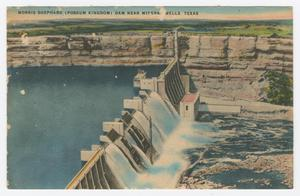 Primary view of object titled '[Postcard of the Morris Shephard Dam]'.