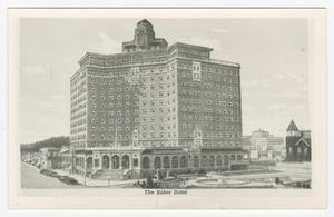 Primary view of object titled '[Postcard of Baker Hotel]'.