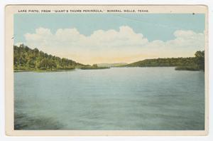 Primary view of object titled '[Postcard of Lake Pinto]'.