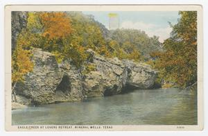 Primary view of object titled '[Postcard of Eagle Creek at Lovers Retreat]'.