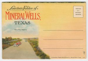 Primary view of object titled '[Souvenir Folder of Mineral Wells, Texas]'.