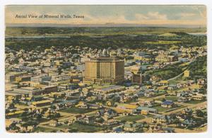 Primary view of object titled '[Postcard of Aerial View of Mineral Wells]'.